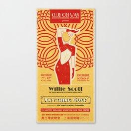 INDIANA JONES - Anything Goes Canvas Print