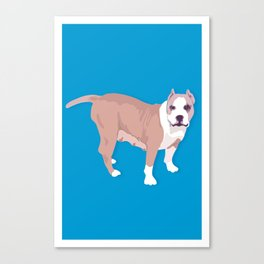 Sweet Amstaff Canvas Print