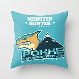 Monster Hunter All Stars - Pokke Permafrosts  Throw Pillow