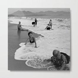 Bathing Woman in Vietnam - analog Metal Print