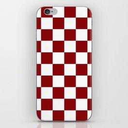 Red White Checker iPhone Skin