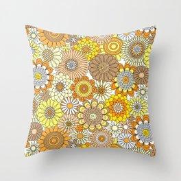 Thrifted Linen Goldenrod Throw Pillow