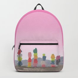 Seven Magic Mountains with Pink Sky - Las Vegas Backpack
