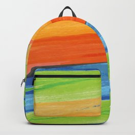 Color yellow red blue green Backpack