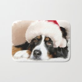 Santa Dog Bath Mat