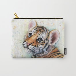 Tiger Cub Watercolor Cute Baby Animals Carry-All Pouch