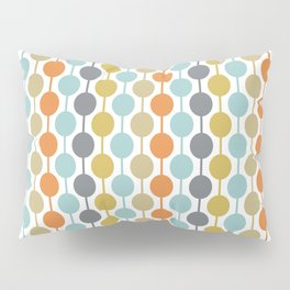 Retro Circles Mid Century Modern Background Pillow Sham