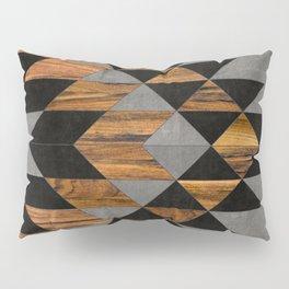 Urban Tribal Pattern No.10 - Aztec - Concrete and Wood Pillow Sham
