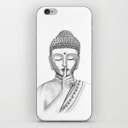 Shh... Do not disturb - Buddha iPhone Skin