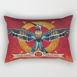 Mockingjay The girl on fire - district 12 - Hunger - bookish print - book quote - reading Rectangular Pillow