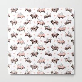 Flying Pigs Metal Print