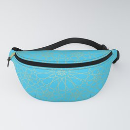 Moroccan Nights - Gold Teal Mandala Pattern - Mix & Match with Simplicity of Life Fanny Pack