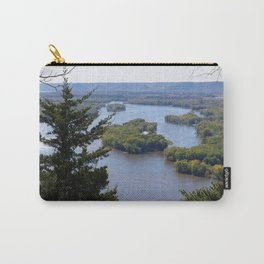Upper Mississippi River, looking downriver from Buena Vista Park, Alma, WI Carry-All Pouch