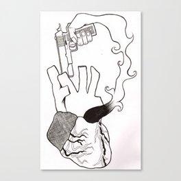 Self Destruction Canvas Print