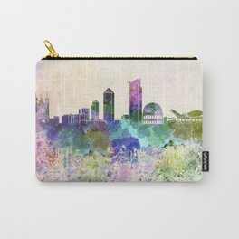 Lyon skyline in watercolor background Carry-All Pouch