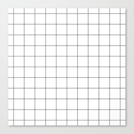 White Grid  /// www.pencilmeinstationery.com Canvas Print