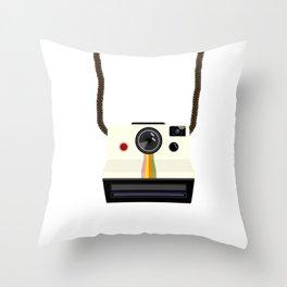 Retro Camera with Strap Throw Pillow