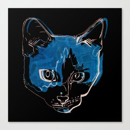 Kitty with a Soul Patch Canvas Print