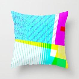 GLITCH_0017 Throw Pillow