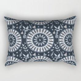 NATURE circle MonoChrome Rectangular Pillow