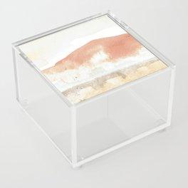 Terra Cotta Hills Abstract Landsape Acrylic Box