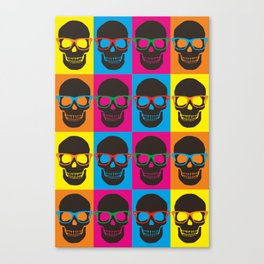 Colorfull Skulls Canvas Print