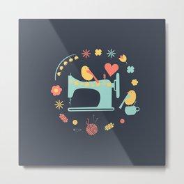 Love sewing Metal Print