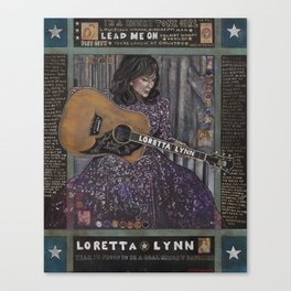 Loretta Lynn Canvas Print