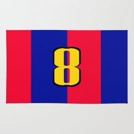soccer team jersey number eight Rug