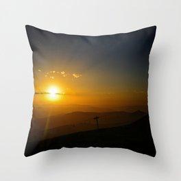 Alpine Sunset Throw Pillow