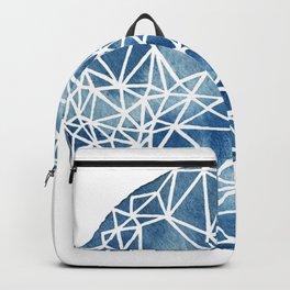 Whole Fractal Marble Blue Backpack