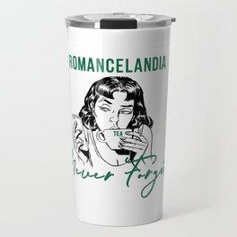 Romancelandia Never Forgets -- Green Travel Mug