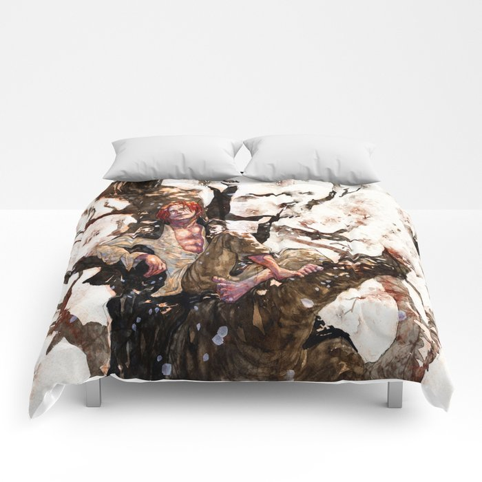 akagami shanks Comforters