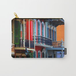 Colorful French Quarter Row Homes Carry-All Pouch