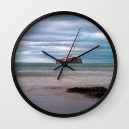 The Bass Rock from Seacliff Wall Clock