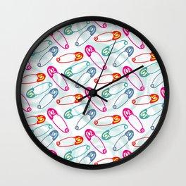 Safety Pins Wall Clock