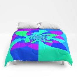 Orchid Aqua Turquoise Kaleidoscope Comforters