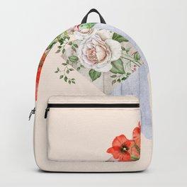 Floral Blocks Backpack