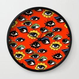 60s Eye Pattern Wall Clock