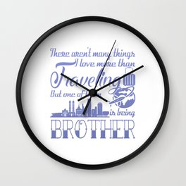 Traveling Brother Wall Clock