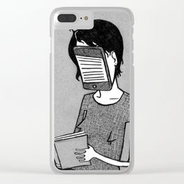 Modern Reader Clear iPhone Case