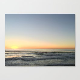 Sunset in Cardiff Canvas Print