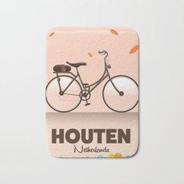 Houten Netherlands Cycling poster print. Bath Mat