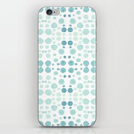 Dots, dots and more dots - blue, green & turquoise iPhone Skin