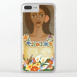 More than flowers she sells illusions Clear iPhone Case