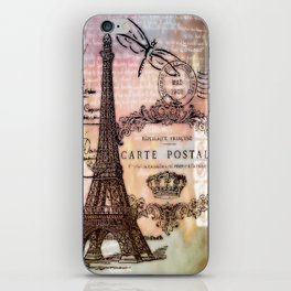 Eiffel tower collage iPhone Skin