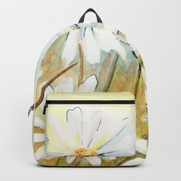 Daisies Watercolor Backpack