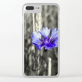 Kornblume Clear iPhone Case
