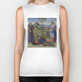 """Raffaello Sanzio da Urbino """"Vision of a Knight (The Dream of Scipio or Allegory)"""", circa 1504-1505 Biker Tank"""
