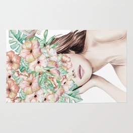 She Wore Flowers in Her Hair Island Dreams Rug
